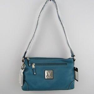 Tignanello small shoulder dark teal handbag